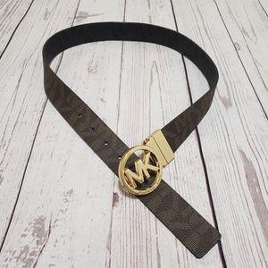 "Michael Kors belt brown with monogram 33"""